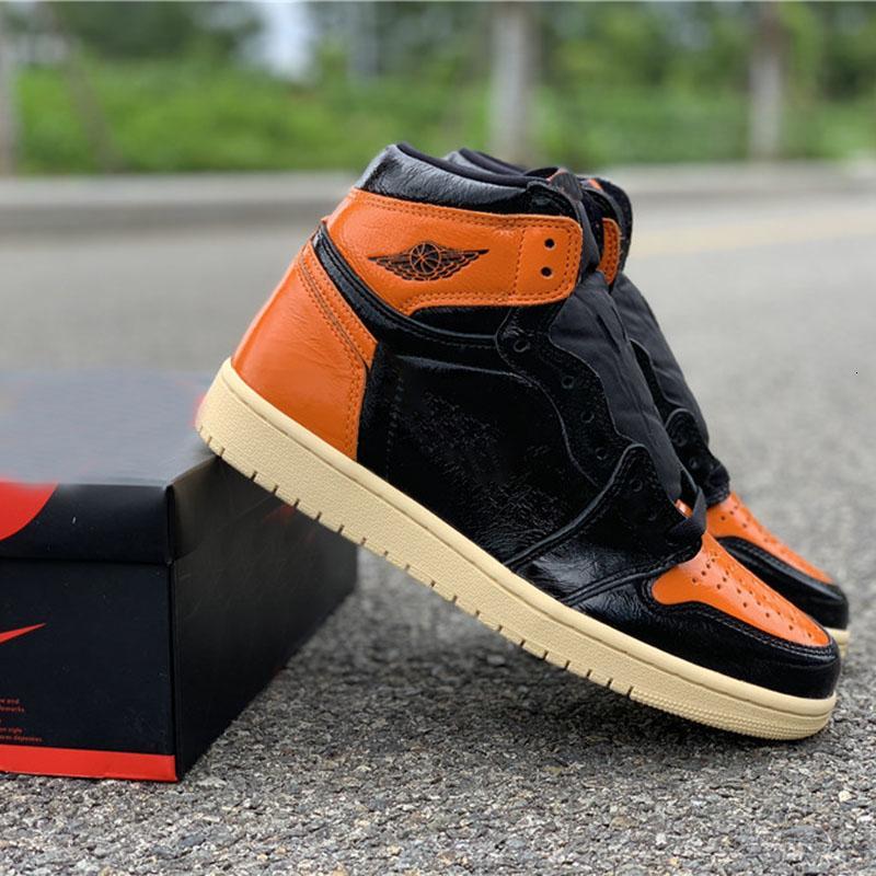 Nueva Retres alta Og 3.0 Zapatos tablero de baloncesto rotos Negro 1s Orange 2019 diseñador de moda de la marca para hombre de las zapatillas de deporte Deportes