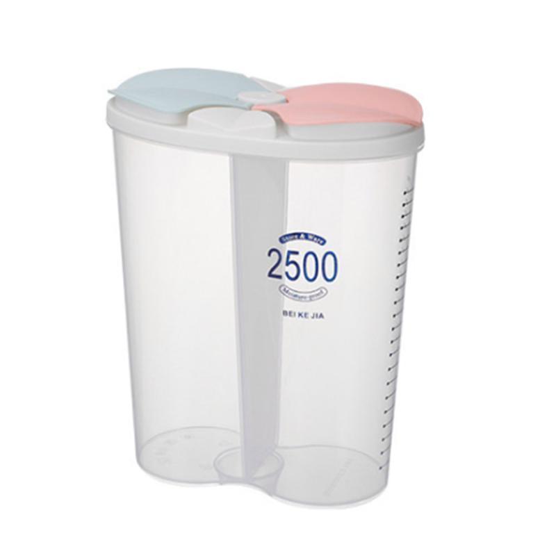 Küche Grain Storage Box transparente Plastik Compartment Barrel Haushalt Sealed Getreidelagerbehälter Jar