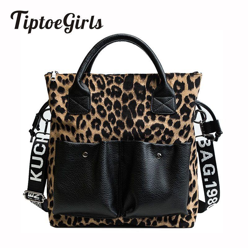 Fashion Leopard Ladies Handbags 2018 Winter New Women Bags Fashion Girls Totes High Quality Female Shoulder Messenger Bags Y19062003