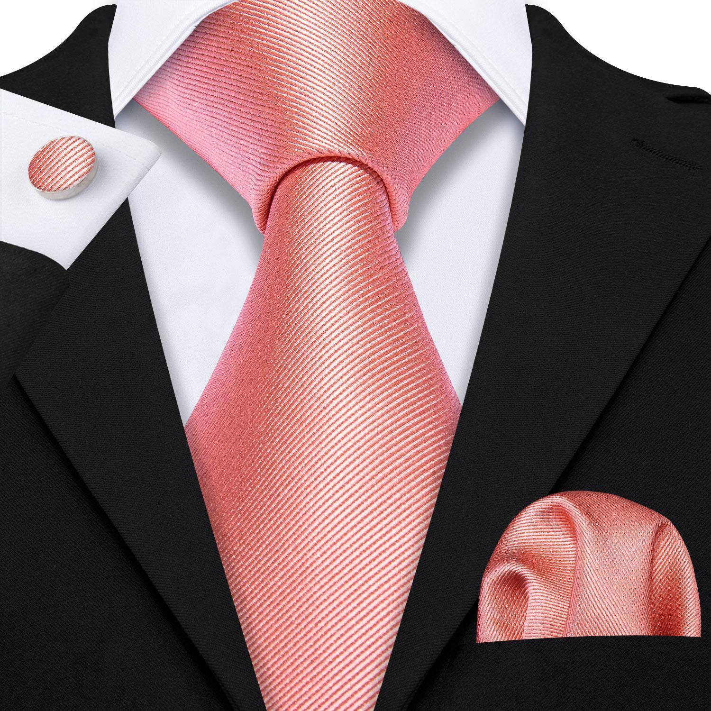 Men/'s Necktie Matching Pocket Square hanky Cufflinks Wedding Silk Woven Tie Set