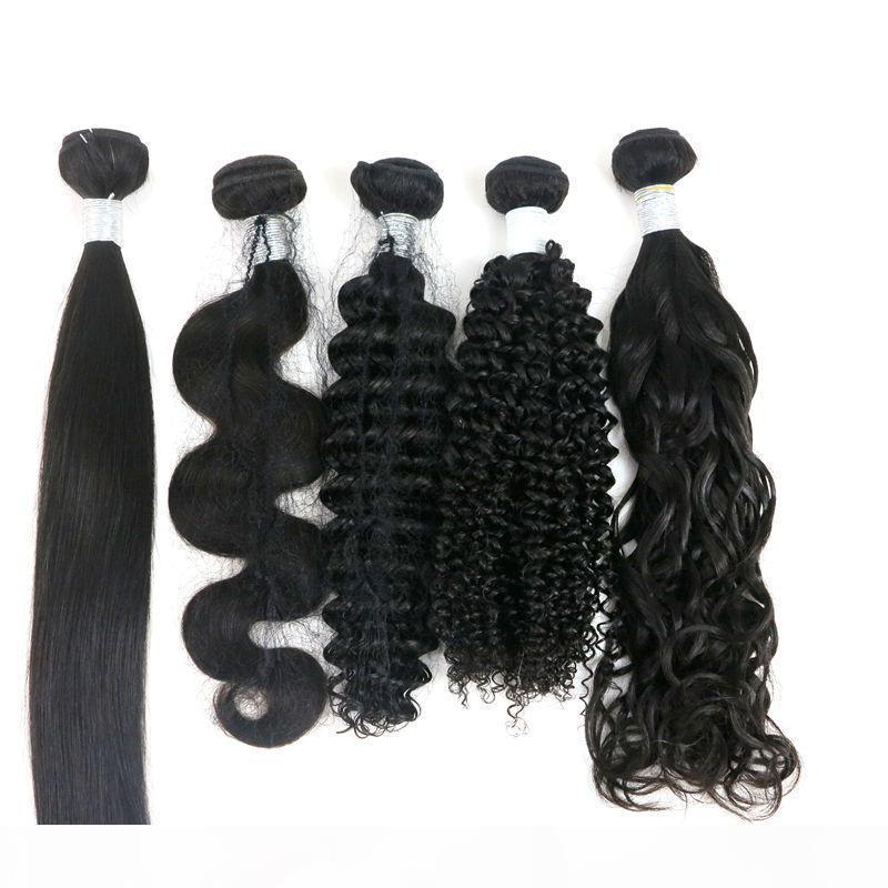 Virgin Brésil Bundles cheveux humains Cheveux Tissages 8-34inch Indien malais non transformé péruvienne pur Remy Extensions de cheveux humains