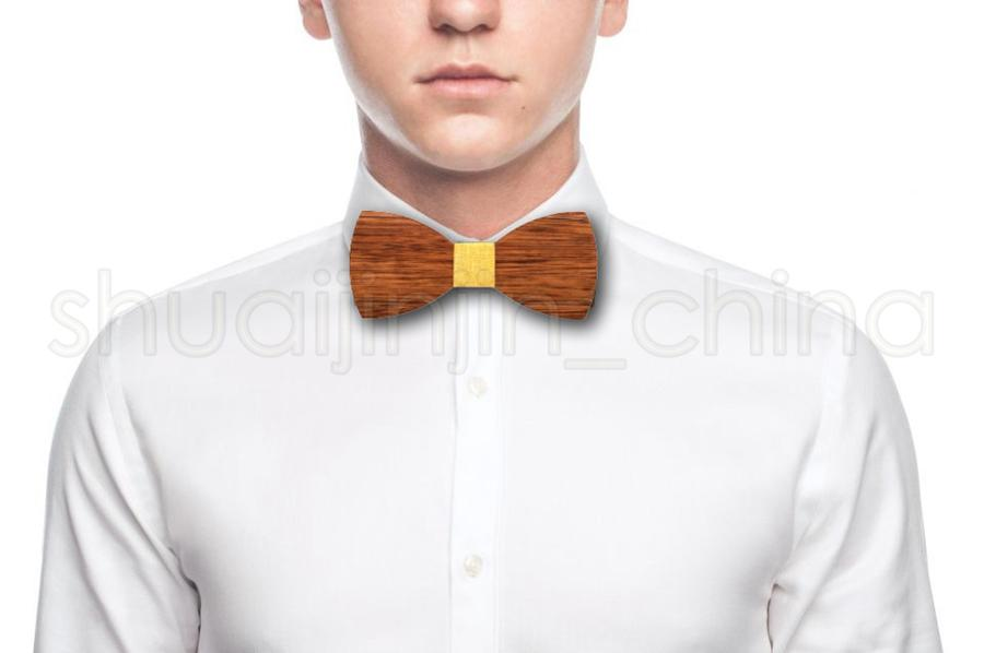 Creative Mens Wood Bow Tie Fashion Mens Party Business Butterfly Cravat Classic Women Kids Party Bowknot Ties TTA1239-14