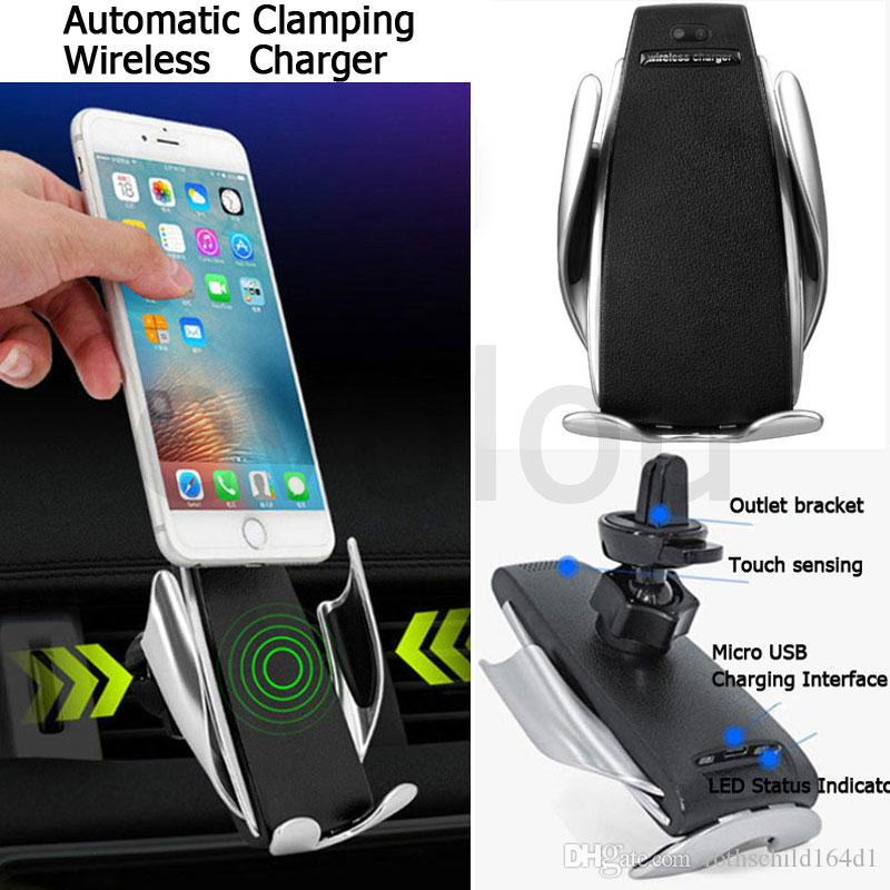 2020 Car Wireless Charger Smart Automatic Clamping Phone Holder For Iphone Xs Max 8 7 Fast Charger Air Vent Mount For Samsung Android From