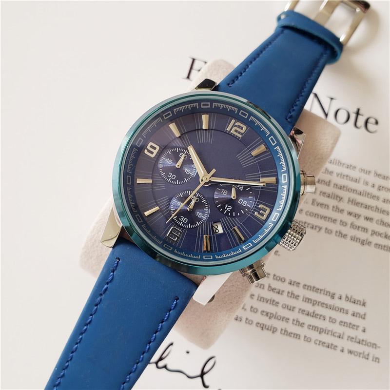 relojes suizos de alta calidad para los hombres el tiempo andador de cuarzo relojes de todos los diales trabajan reloj del diseñador del cronógrafo funcional impermeable al agua Montre de luxe