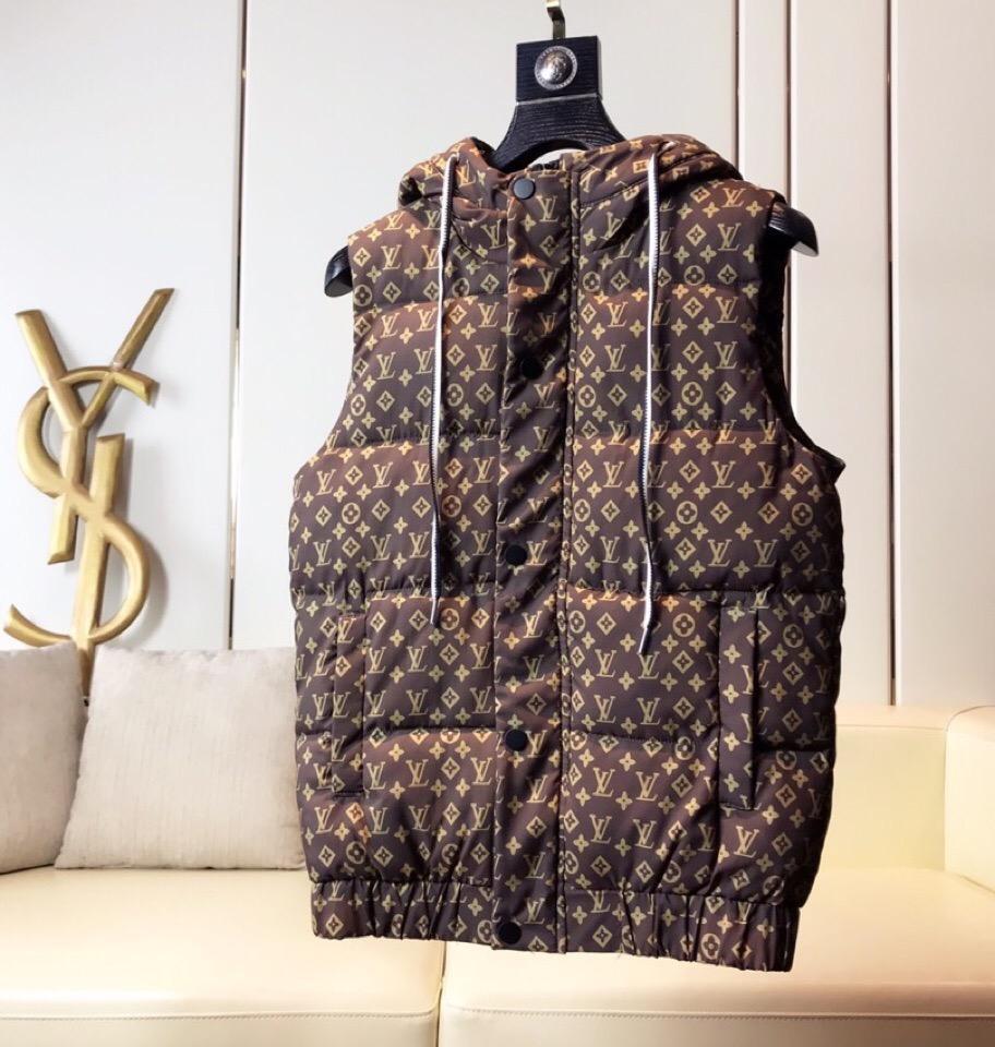 Lüks Erkekler Kadınlar Ceket Sonbahar Kış Down Vest Coat Harf Baskılı Erkek Hoodie Ceket Moda Fermuar Coat Yelek Coats B102468K