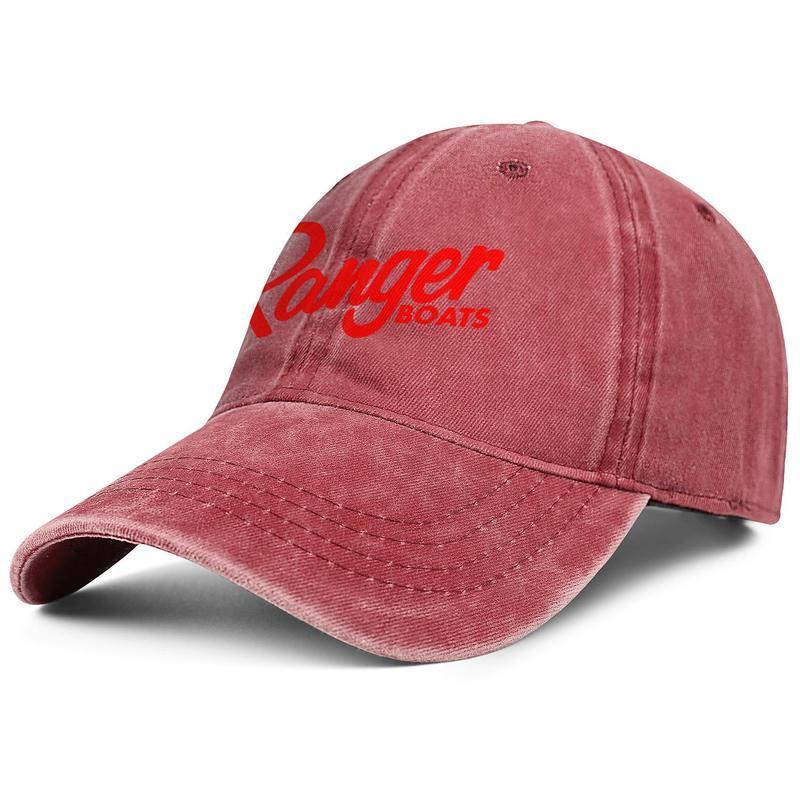 남여 레인저 보트 로고는 패션 야구 모자 크리켓 장착 조절 빈티지 모자 개인화 된 데님 화이트 레즈