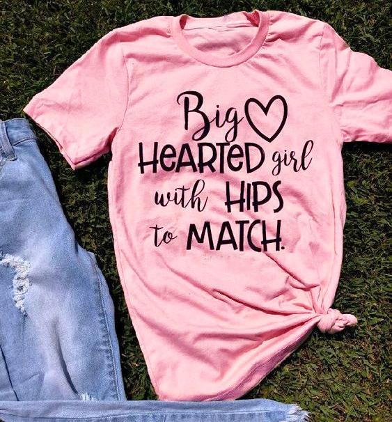 Grande coração menina com quadris para combinar t-shirt das mulheres moda slogan gráfico camiseta rosa feminina estética casual goth tees tops