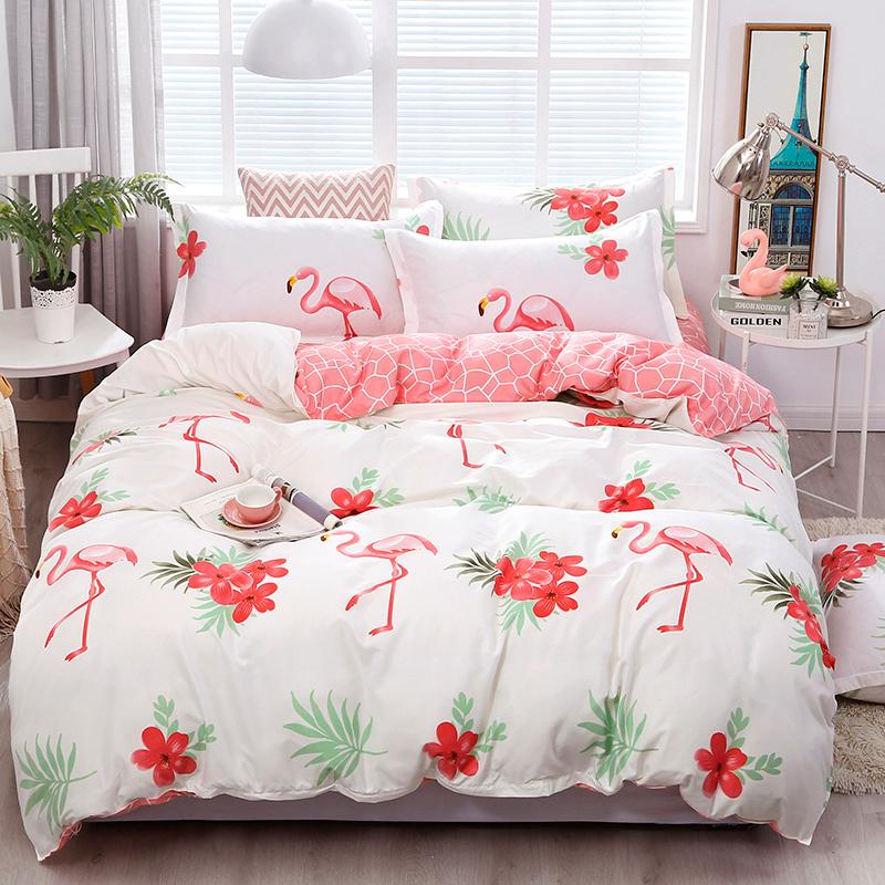 Solstice Home Textile Queen Twin Single Bedding Set Princess Girl Kid Child Bed Linens Purple Duvet Cover Pillow Case Flat Sheet