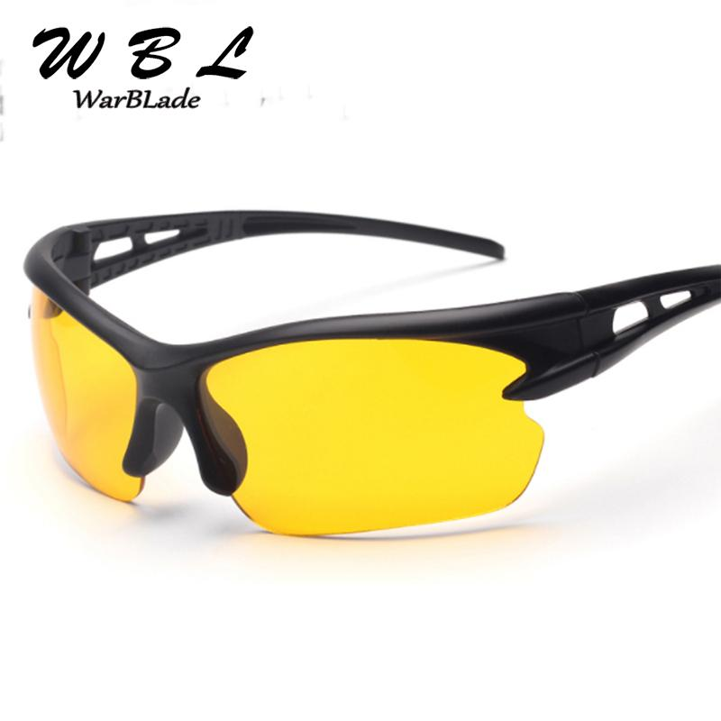 Warblade Men Night Vision Driving Glasses Yellow Black Lenses Driver Safety Sunglasses Goggles Fashion Men Women Day Night Glass