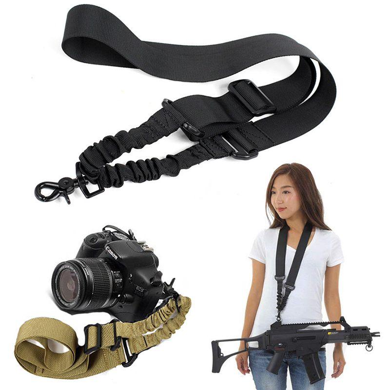 Тактическая винтовка пистолет слинг мягкий ремень камеры веревка регулируемая банджи страйкбол одноточечный слинг с металлическим крючком для винтовки M4 M16 дробовик
