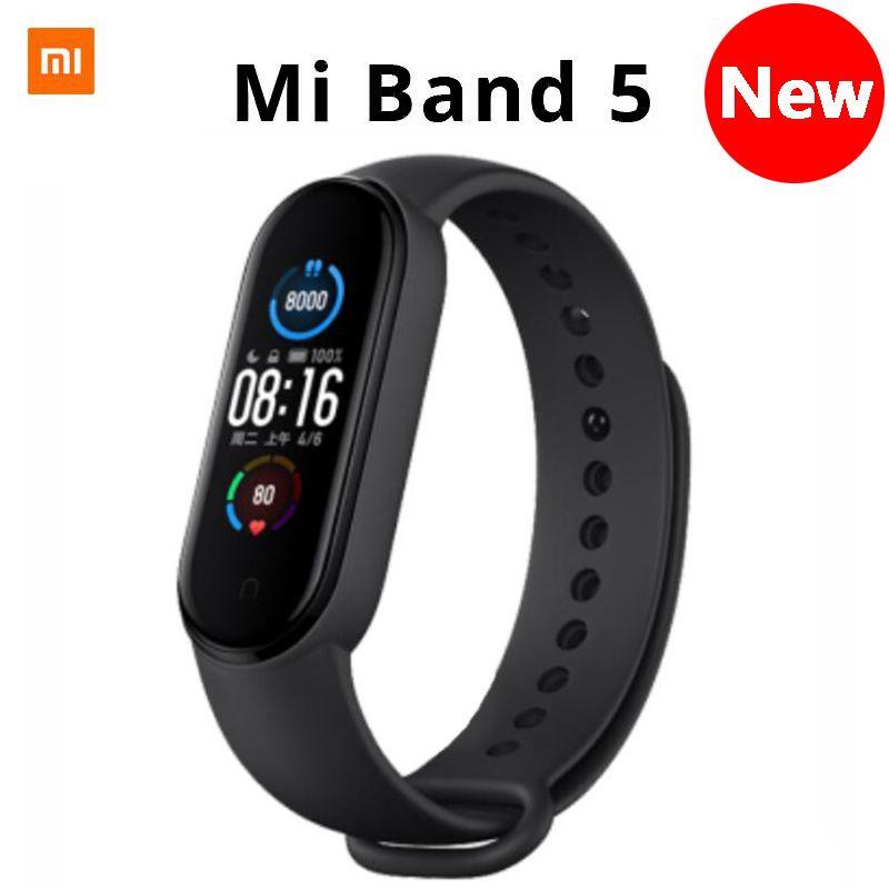Xiaomi Mi Band 5 Bracelet 4 intelligent écran tactile couleur Miband 5 Wristband Fitness sang oxygène piste de fréquence cardiaque MonitorSmartband de youpin