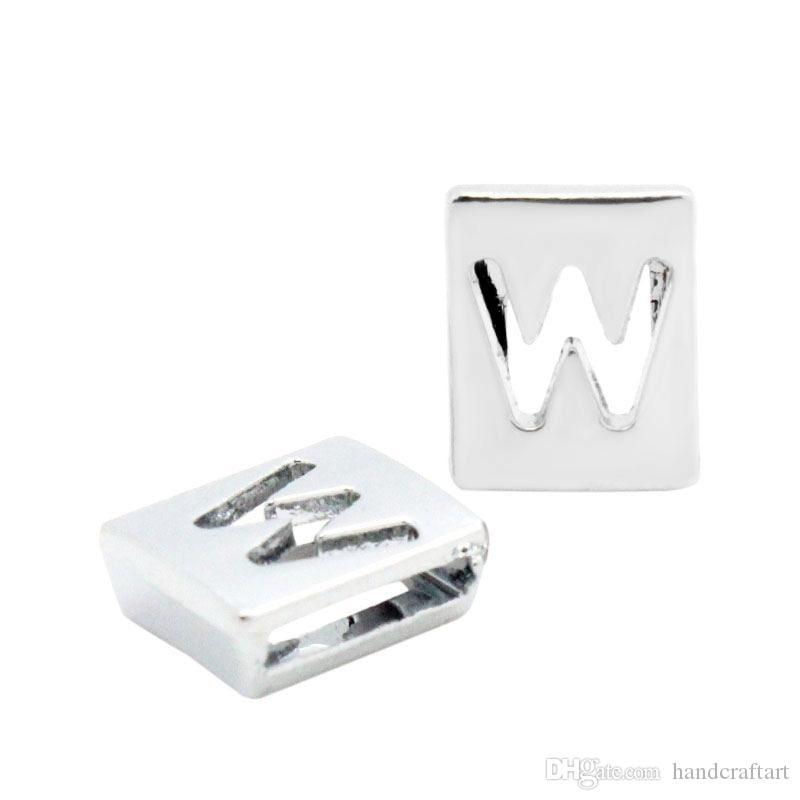 20PCS U-Z Hollow 8MM Slide Letters Fit DIY Wristband / Bracciale LSSL010