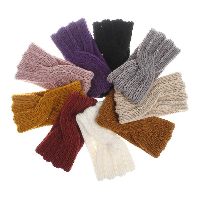 Мода дизайнер повязки вязание вязание крест зимние теплые шляпы плетение эластичная шапка милая головка популярная новая девушка женщина популярные аксессуары для волос