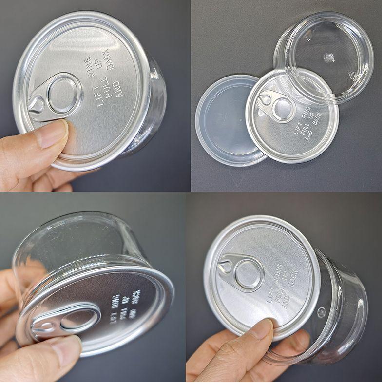 3,5 g Kunststoff klar Dose mit Lebensmittelqualität Vorratsbehälter 100ml PET Kraut Blumen Verpackung Fall leicht zu öffnenden Endring Zuglasche leere Dosen trocken