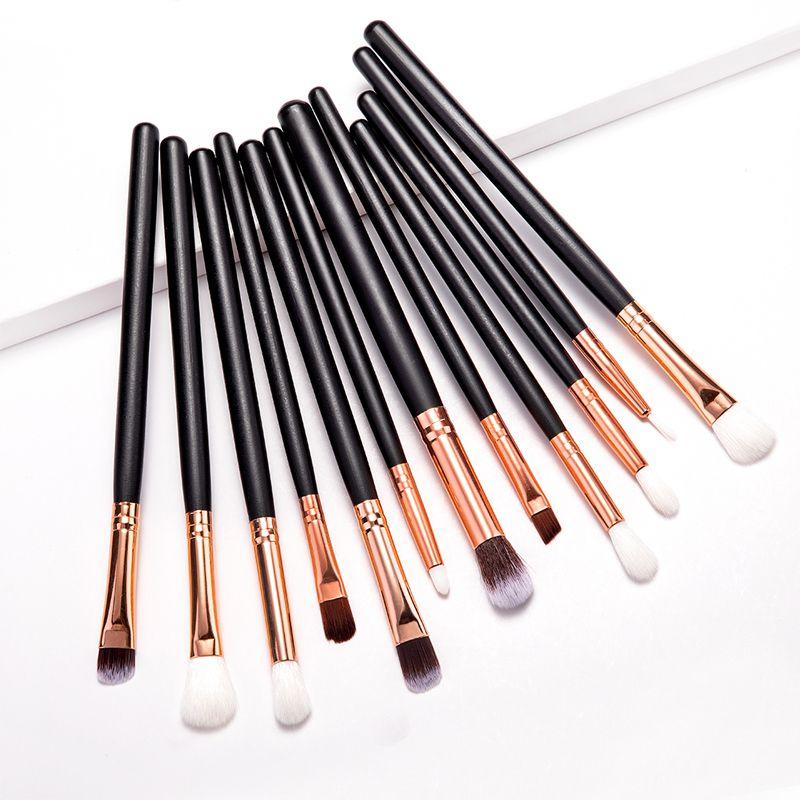 Make-up Pinsel professionelle 12st Set bilden Bürsten-Augen-Schatten-Blending Eyeliner Wimpern Augenbrauen Pinsel Lidschatten-Pinsel-Set kosmetische Werkzeuge