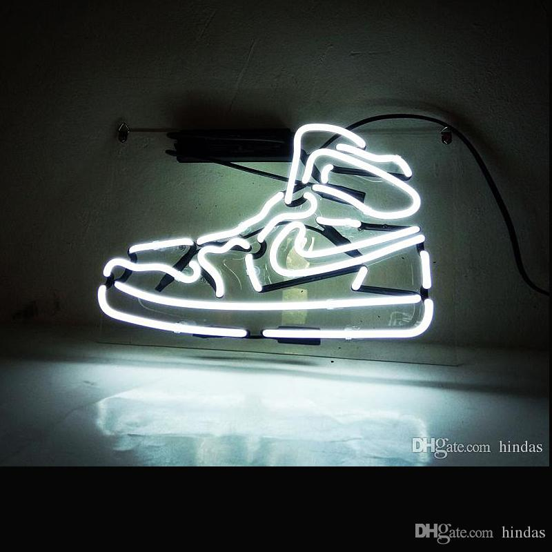 Acrylic ransparent Bottom Plate Neon Light Custom Neon Sports Sneaker Shoe LED Neon Signs For Sale