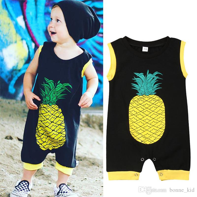 Baby Boys Girls Pineapple Romper Jumpsuit Bodysuit Newborn Kids Clothes Outfit