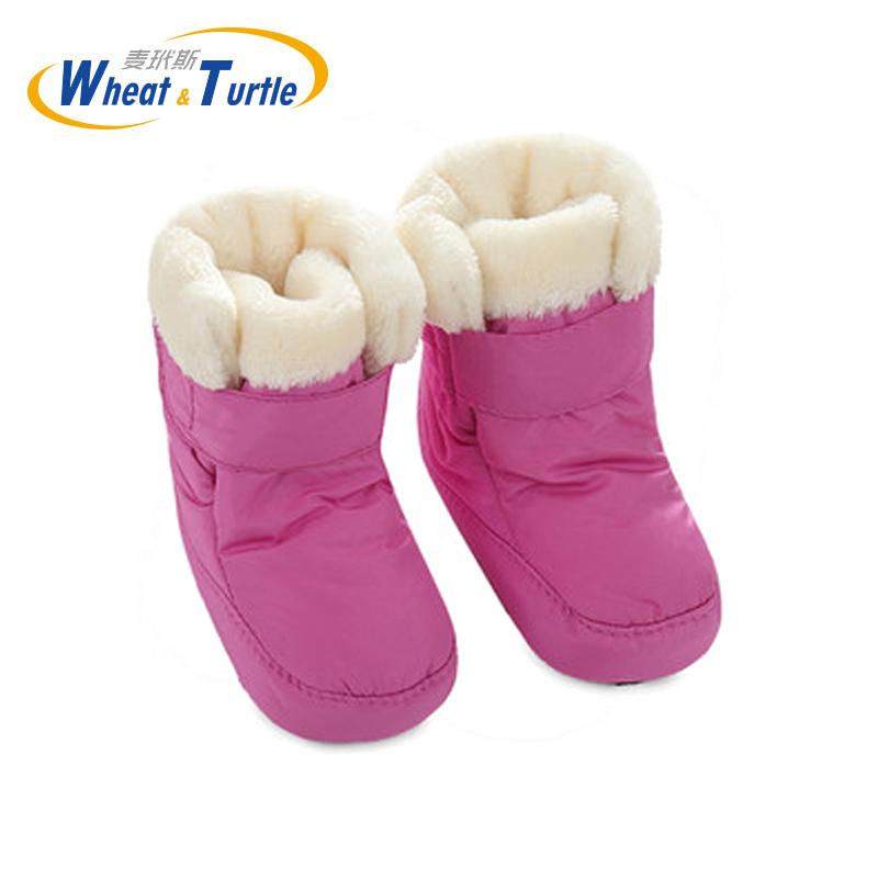 Mother Kids Baby Shoes First walkers Unisex Winter Warm Boots For Infant Baby Faux Fur Inner Snow Boots Toddler Prewalker Bootie CY200512