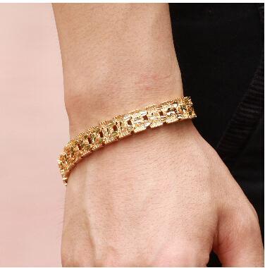 Atacado-OPK joalharia de luxo de ouro 18K pulseira marca nova largura projeto 11 milímetros infinito pulseira Moda TRANSPORTE LIVRE 160