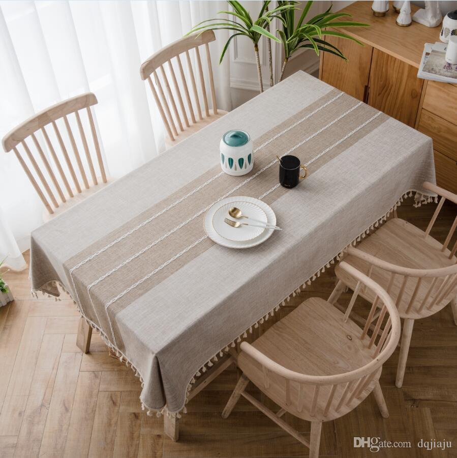 Tovaglia Da Tavola Moderna acquista tovaglie di cotone table cover lino moderna minimalista tovaglia  solido colore rettangolare tovaglia caffè tovaglia a 32,43 € dal dqjiaju |