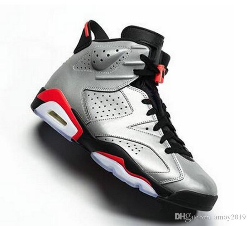 Jsp Reflective 2019 6 Bugs Bunny Men Basketball Shoes 3m 6s Reflective Silver Reflect Carmine Gatorade Trainers Sports Infrared Sneakers
