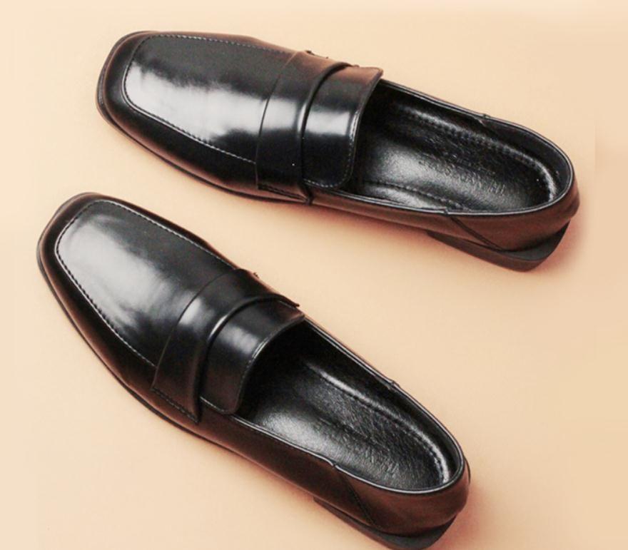 2020 весной и осенью с обувью Нового стиля мода низкого каблуком Грубых пятками квадратных головами женщин в @ MQWBH760