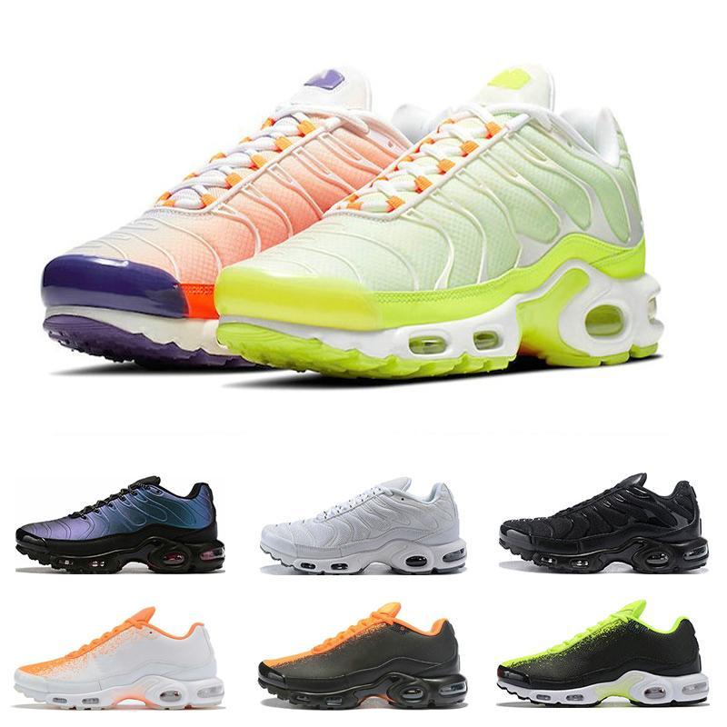 2019 nuovo più tn mens Parigi corsa tn scarpe d'oro arancione più Chaussures esterna Trainer Uomo Athletic Shoes Sneakers sportive