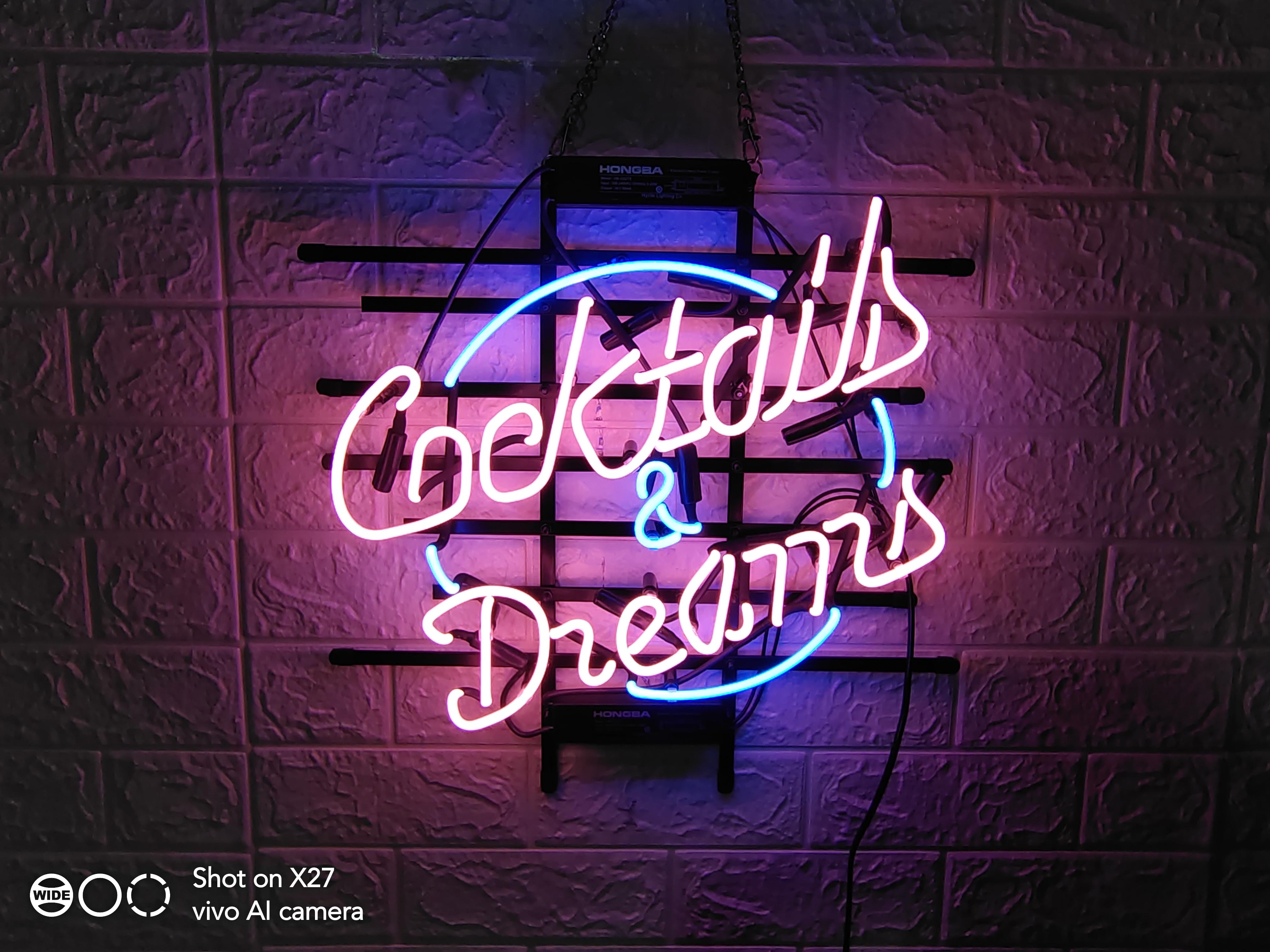 Cocktails /& Dreams Wine NEW LED Neon Light Sign home decor crafts