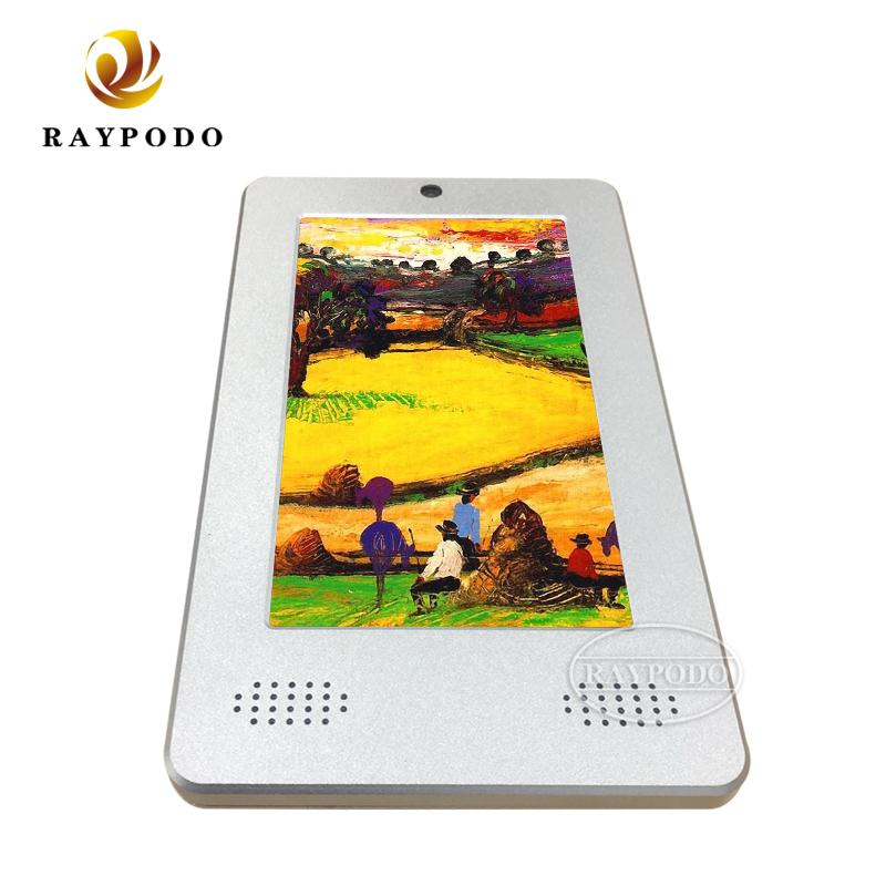 7 inch customized Android POE RJ45 tablet with black and silver metal cover for industry using