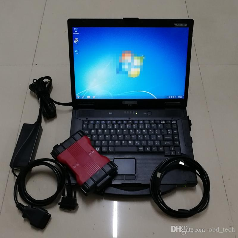 for F-ord VCM2 Diagnosis Tool for VCM2 scanner IDS V101 obd2 tool vcm 2 with 320GB HDD in Used laptop CF-52