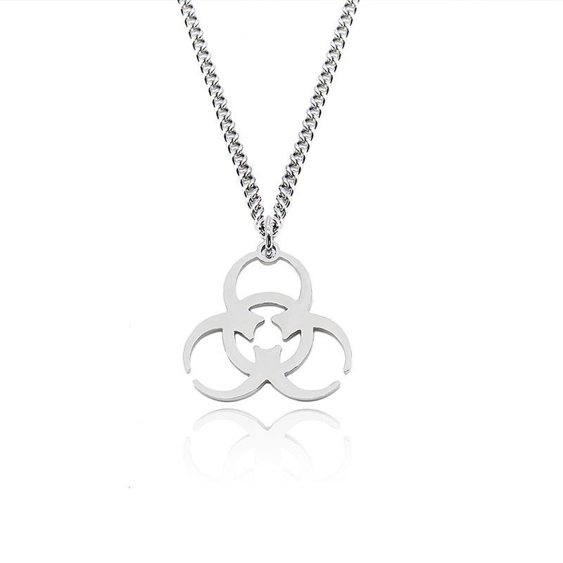 para mujer colgantes collar de acero inoxidable largas cadenas collares joyas de plata en el cuello del steampunk regalos de Navidad 2020 de la moda