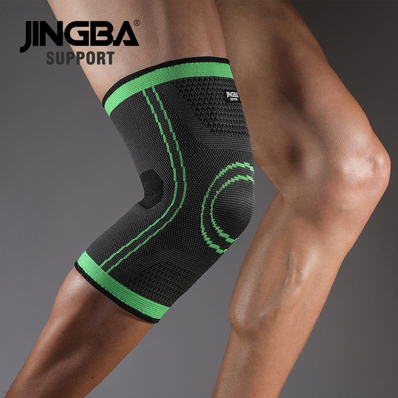 JINGBA DESTEK Spor basketbol dizlik ayracı desteği Elastik Naylon Sıkıştırma diz koruyucu rodillera deportiva