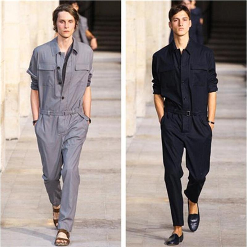 Autumn and Winter New Casual Pants Boys Jumpsuit Slim Men's Tooling Feet Long Pants Men Clothes 2018 Hombres Ropa