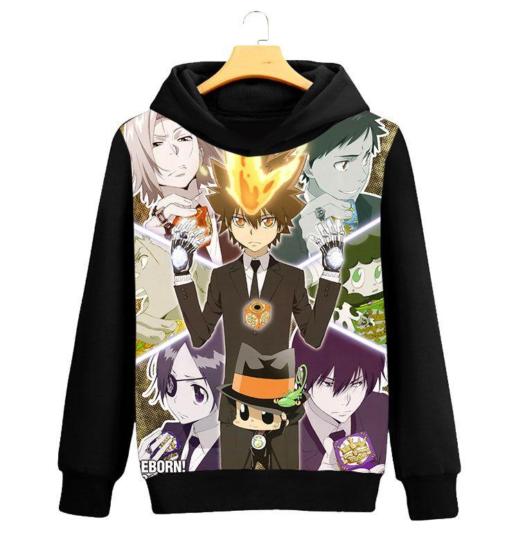 Reborn Cosplay Kostüm Vongola Sawada Tsunayoshi Tsuna Unisex Hoodies Hırka Sportwear Kapüşonlu Rahat Ceketler