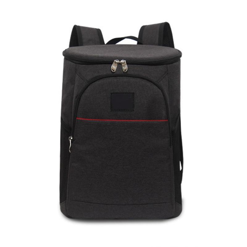 18L Молния ручной сумки Oxford Изолированная упаковка ткани вина кулер большой путешествия обеда емкость ледяной сумка рюкзак унисекс хранения MWQGC