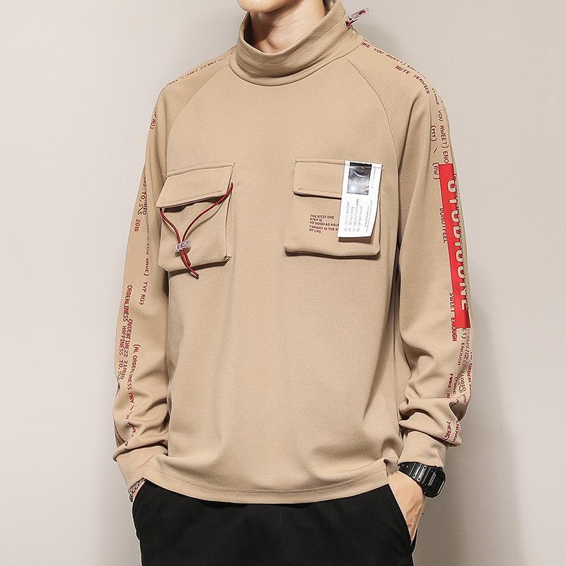 Erkek tasarımcı hoodies Yeni Japon tarzı erkekler tasarımcı kazak katı renk uzun kollu erkek 2019 lüks giysi tasarımcısı rahat kazak