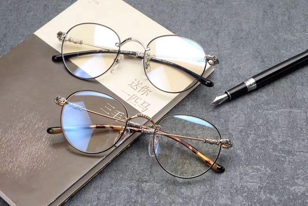 Brand Design dell'annata di alta qualità Montature donne degli uomini del metallo di modo degli occhiali per occhiali occhiali rotondi Eyewear Miope BUBBA II
