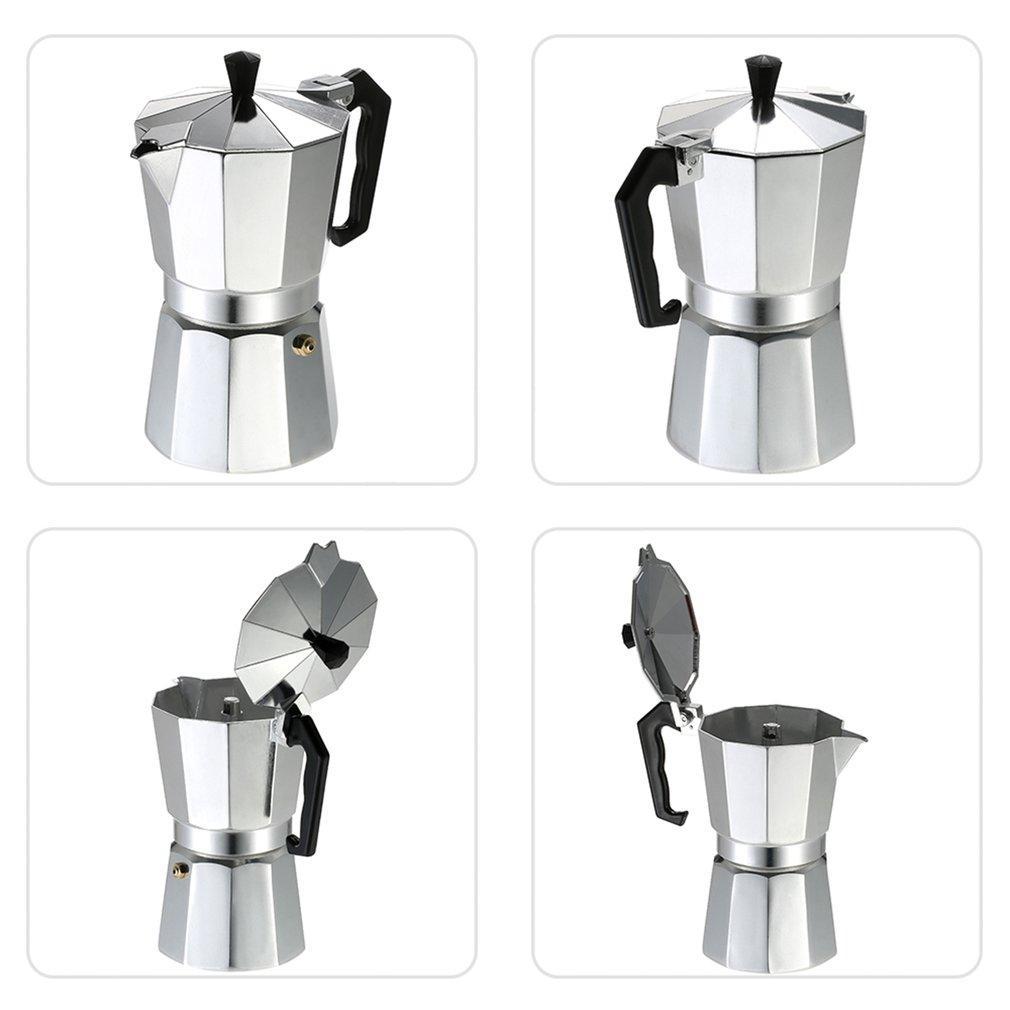 SICAK Alüminyum Cezve 3Cup / 6Cup / 9Cup / 12Cup Kahve Makinesi Espresso Percolator Hazır yemek malzemesi Mocha Pot Elektrikli Soba