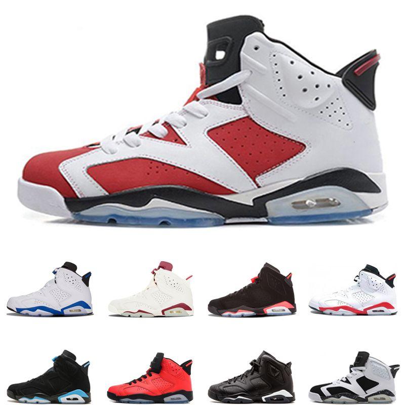2019 Hot 6s erkekler basketbol ayakkabıları klasik ayakkabılar Kızılötesi Kara Kedi Kızgın boğa Spor mavi UNC kaliteli erkek spor eğitmenleri boyutu 40-47