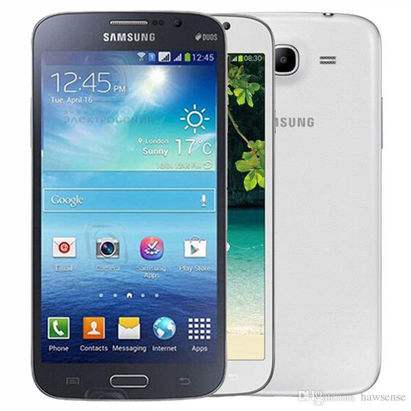 Refurbished Original Samsung Galaxy Mega 5.8 i9152 Dual SIM 5.8 inch Dual Core 1.5GB RAM 8GB ROM 8MP 3G Unlocked Cell Phone Free DHL 30pcs