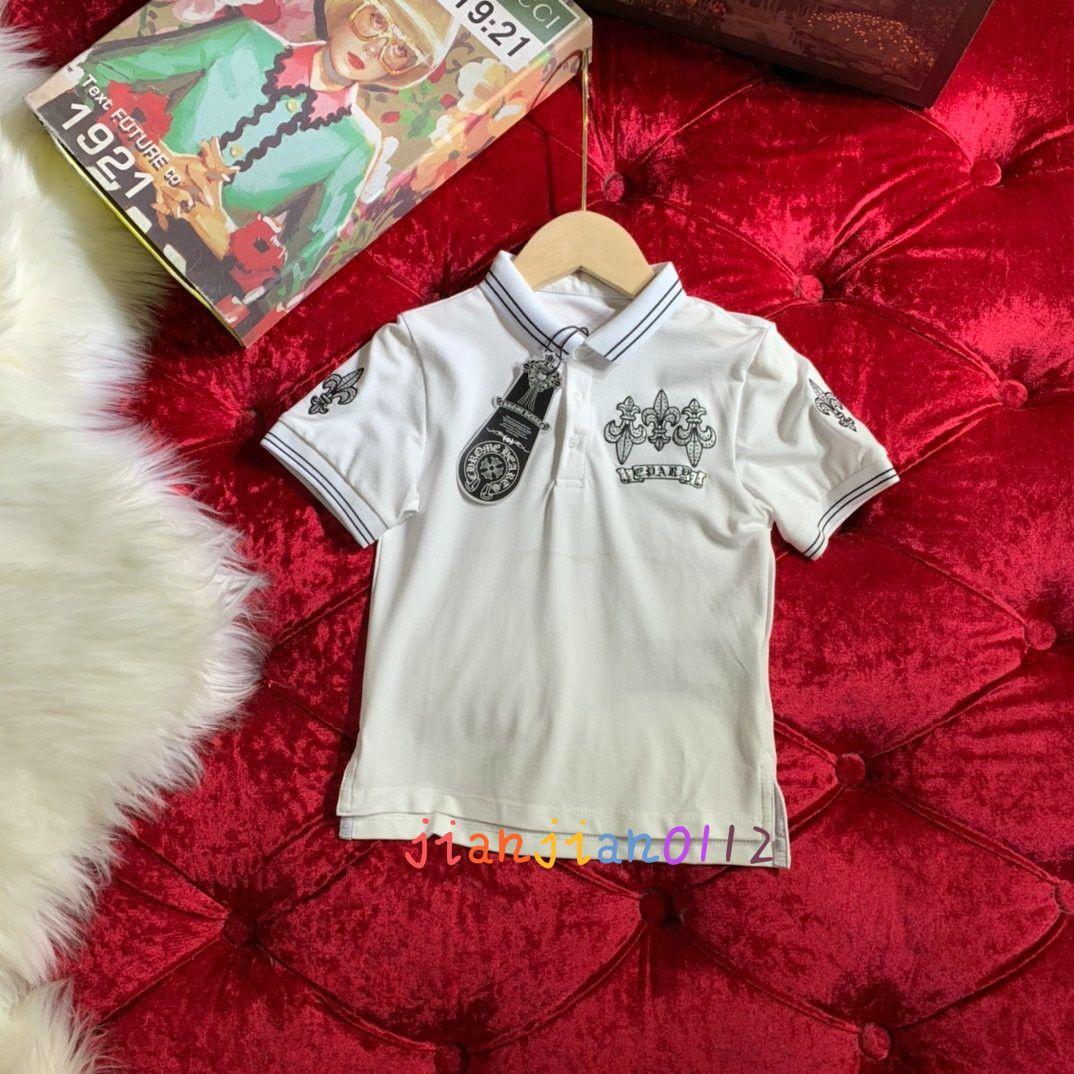 Alta calidad 2020 de los niños de algodón bordado de la manera camiseta de los deportes de diamantes de imitación de manga corta casuales hombres y mujeres de la camiseta 609017D17