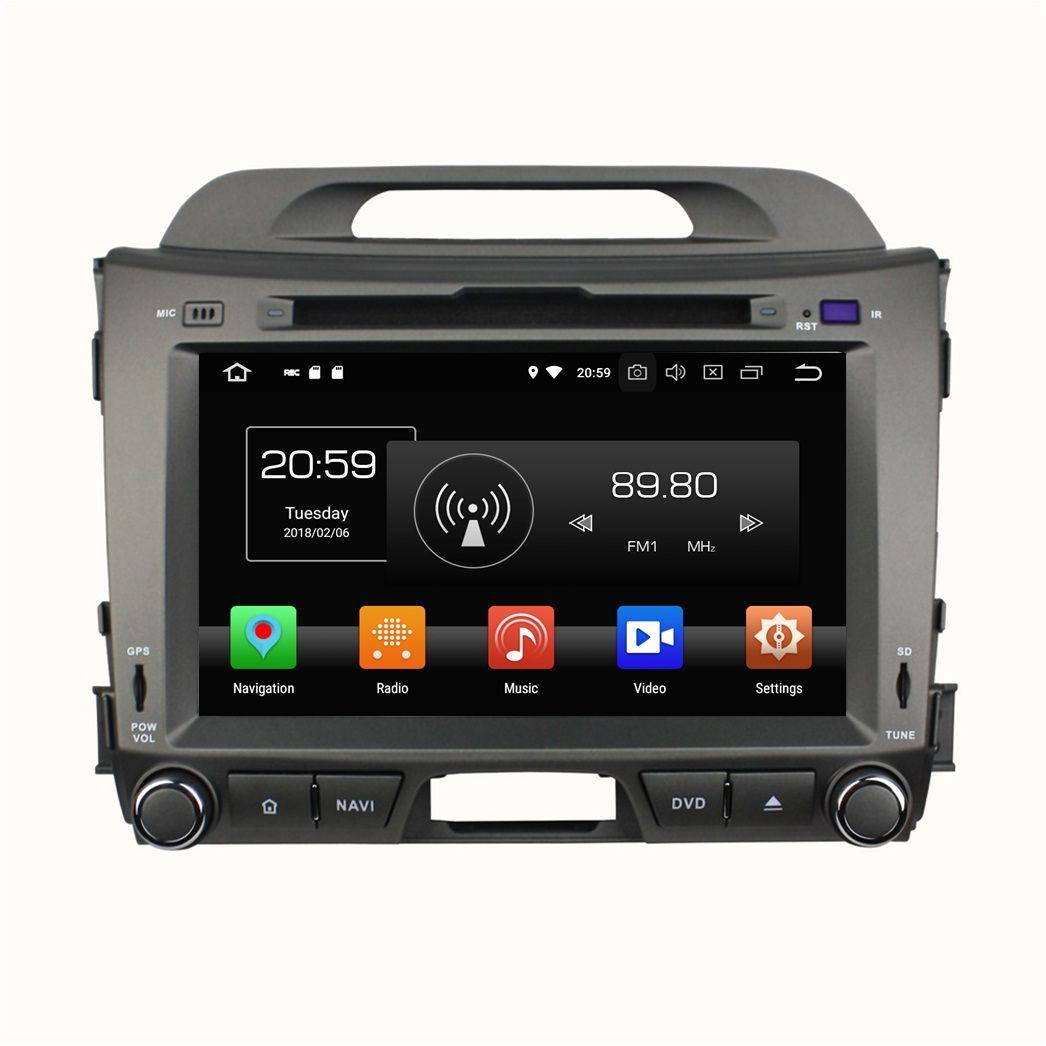 "4GB RAM 64GB ROM Android 8.0 Octa Core 8"" Car DVD GPS for Kia Sportage 2010 20112012 2013 2014 RDS Radio Bluetooth WIFI USB"