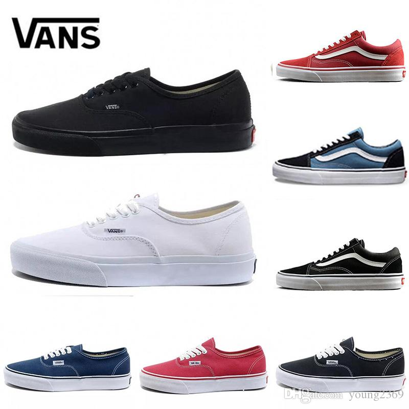 Van Brand old skool Slip on men women canvas shoes sneakers black white red Van fashion skate casual shoes Designer Sneakers Size 44