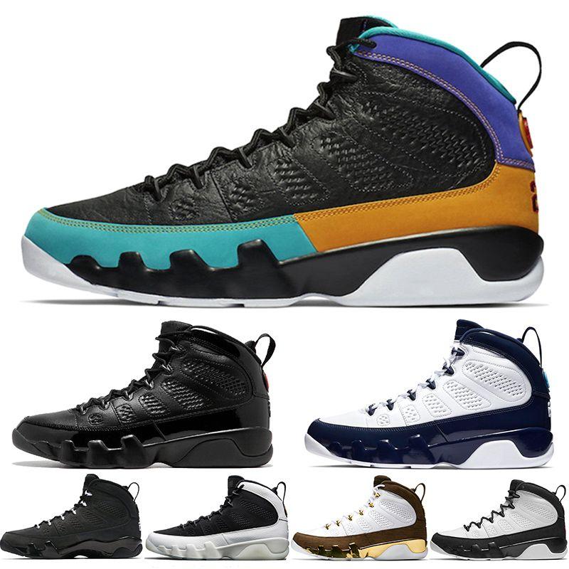 2019 Dream It do it UNC 9 IX 9s hommes chaussures de basket-ball LA Oreo Université space jam Bred bleu Melo hommes sport Chaussures de sport