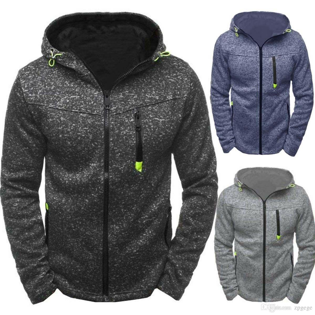 Slim Warm Hooded Sweatshirt Zipper Coat Jacket Outwear Sweater New Stylish Men/'