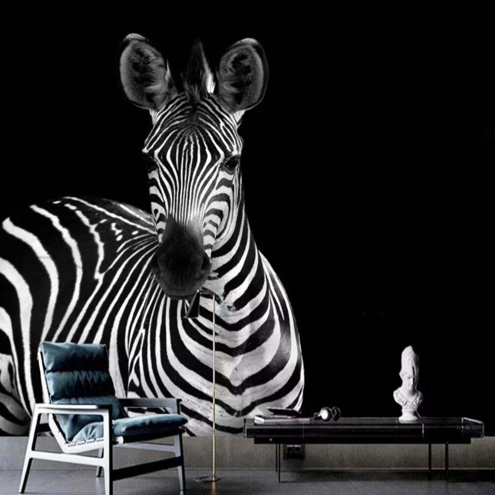 Choice between black or white or any other colored background for your animal wall mural