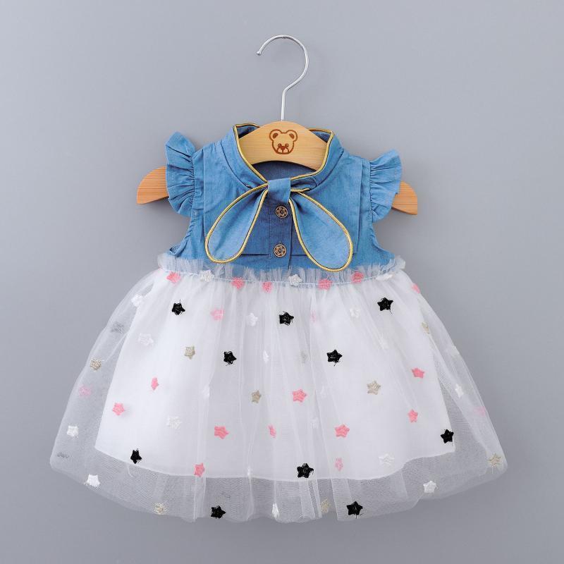 아기 소녀 드레스 2020 여름 공주 파티 얇은 명주 유아 의류 신생아 파티 생일 투 루 드레스 0-2Y Vestidos