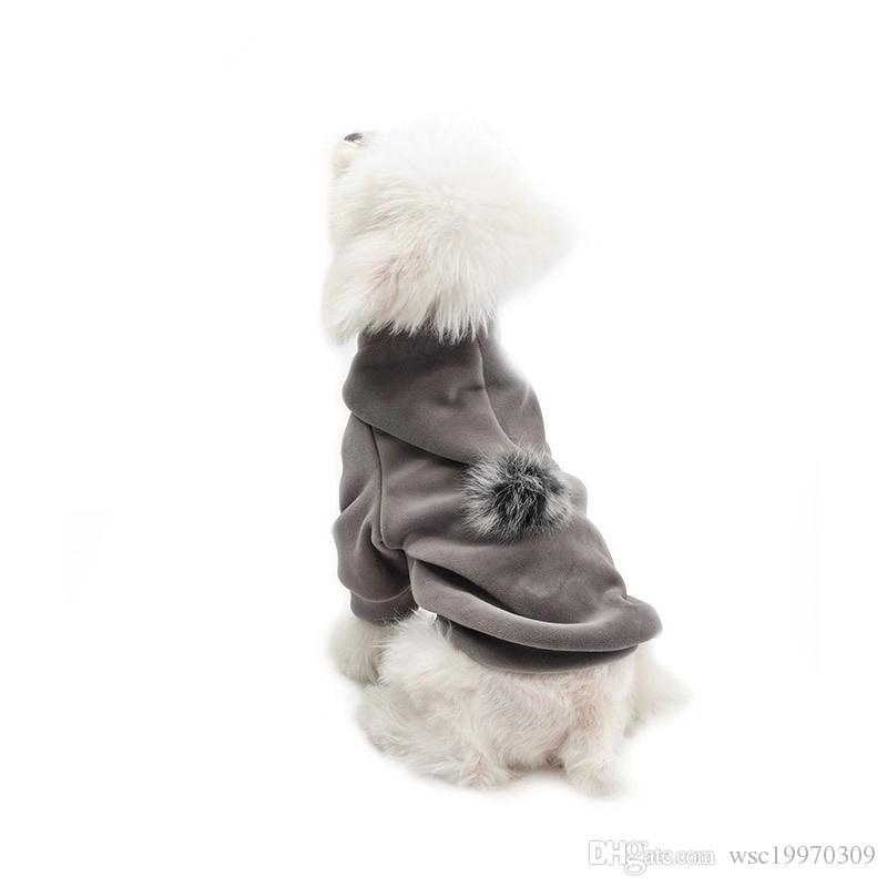 2019 الحيوانات الأليفة الملحقات الكلب كلب الملابس الدافئة في فصل الشتاء جديدة مقنعين معطف سميك الكلب القطن S-XXL مستلزمات الحيوانات الأليفة