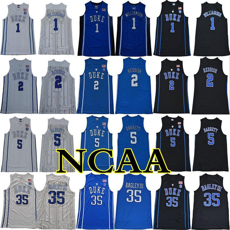 2019 Duke Blue Devils NCAA Colégio Jersey 1 Williamson 2 Avermelhado 5 Barrett 35 Bagley III 34 Carter Costurado Jerseys