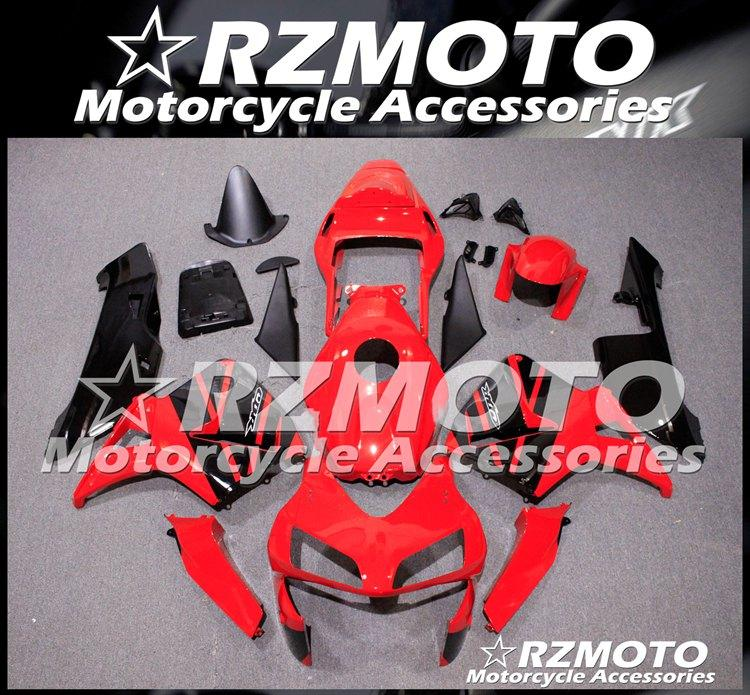 Alta qualidade (Injecção) New ABS motocicleta completa carenagem Kit Fit For CBR600RR F5 2004 costume 2003 Red Preto